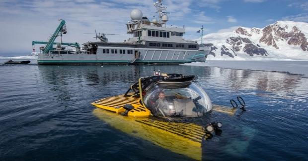 Antarktisz tengeralattjáró merülés 1000 méter