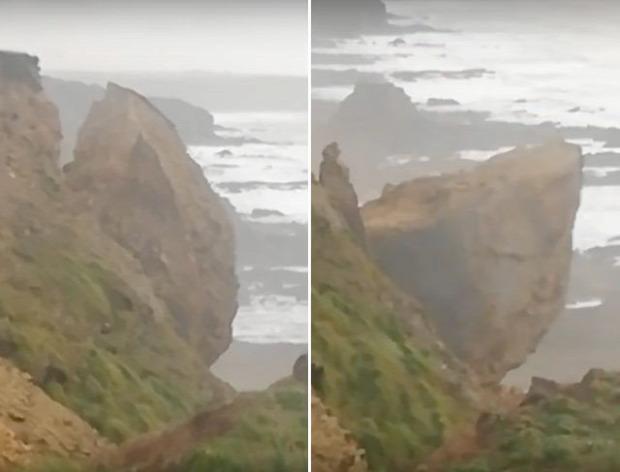 tenger partfal szél vihar szikla omlás