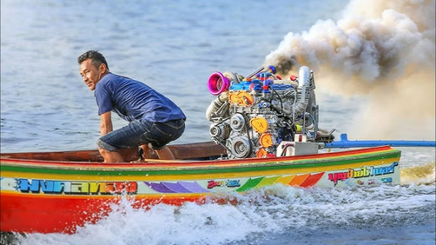 Thaiföld Bangkok csónak hosszú verseny