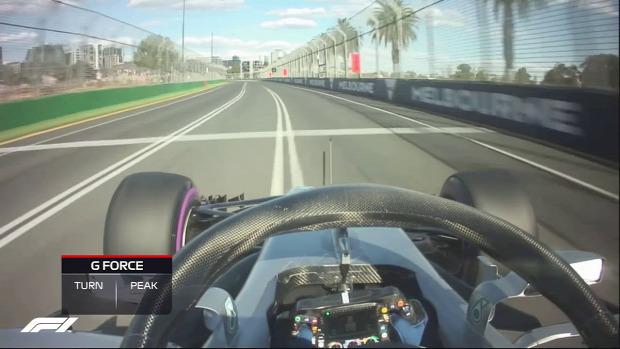 F1  Forma-1 Valtteri Bottas Gravitáció gyorsulás G erő terhelés ausztrál futam
