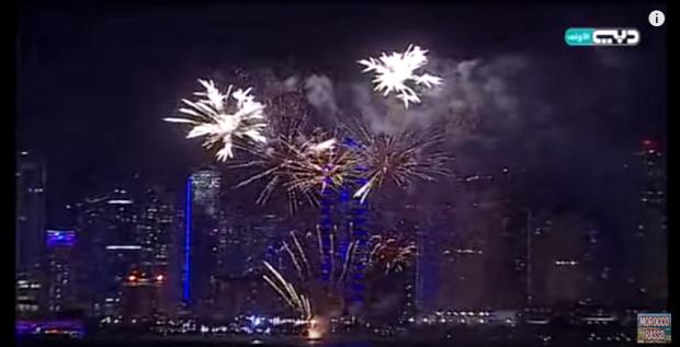 Dubai tűzijáték szilveszter újév 2016