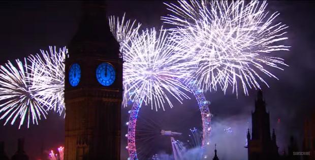 2016 szilveszter újév tüzijáték London