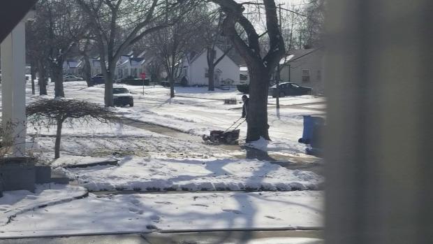 hó  fűnyíró