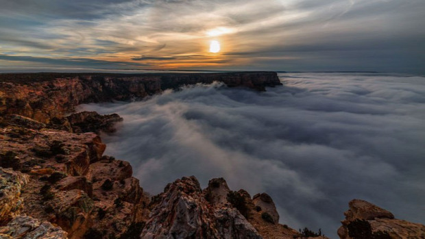 Time lapse grand kanyon időjárás felhő