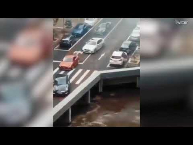 híd forgalom autó optikai csalódás
