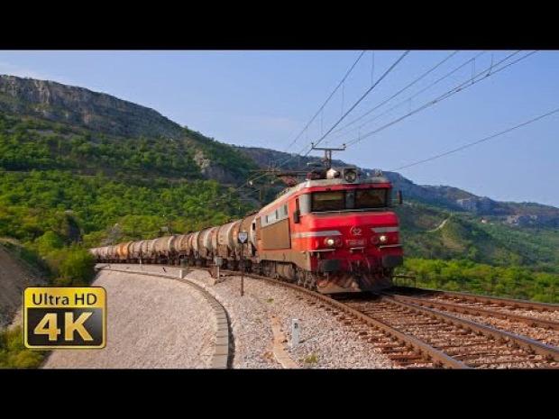 vonat  Montenegró Adria híd alagút