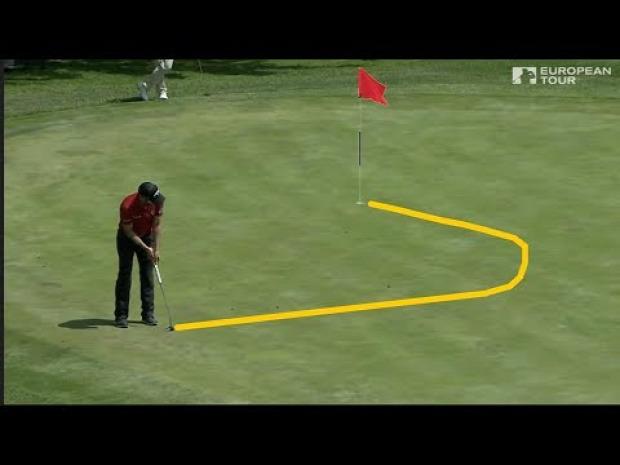 golf ütés gurítás