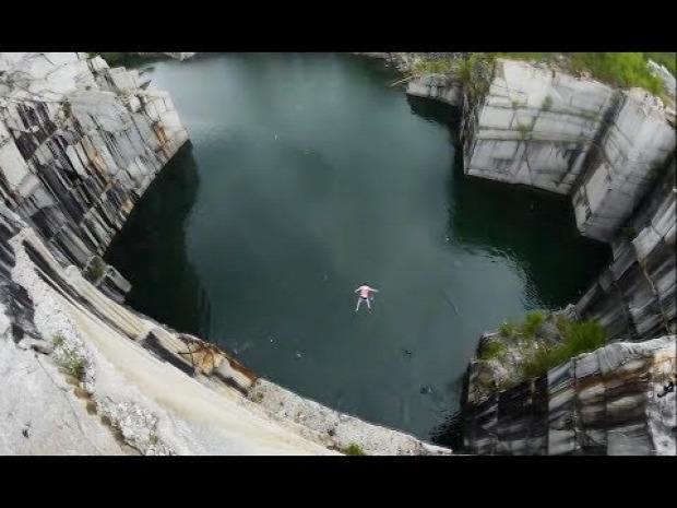 víz ugrás esés medence