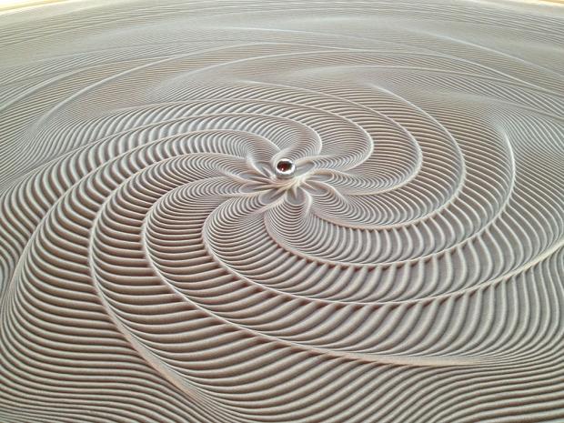 asztal golyó homok rajzol kinetikus