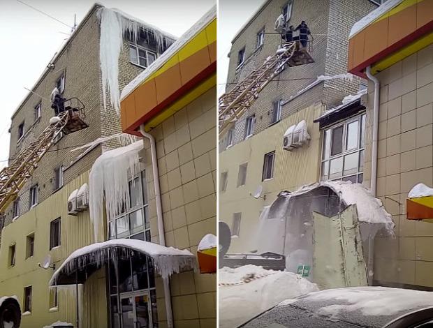 orosz jég jégcsap bontás