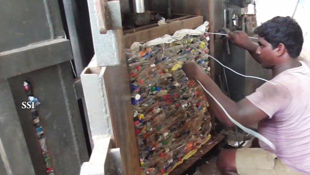 műanyag palack PET india újrahasznosítás