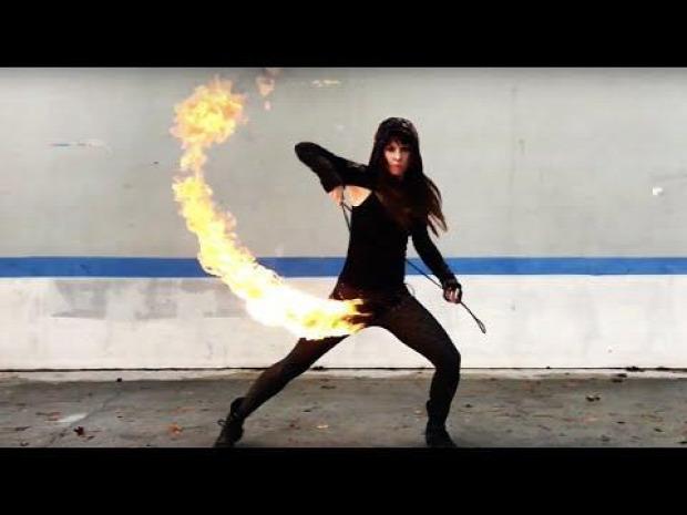 kung-fu fegyver rope dart rope javelin tűz show