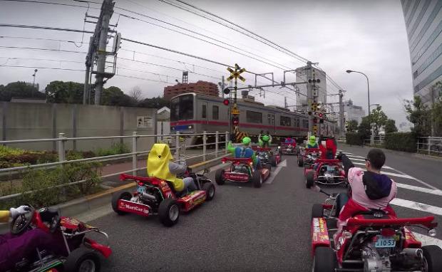 gokart szuper mario mariokart városnézés Mario Kart