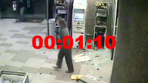 ATM automata banakutomata rablás 70 másodperc