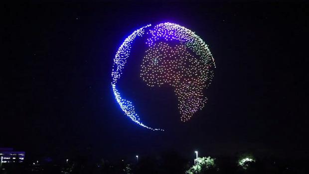 drón repülés fény show világcsúcs