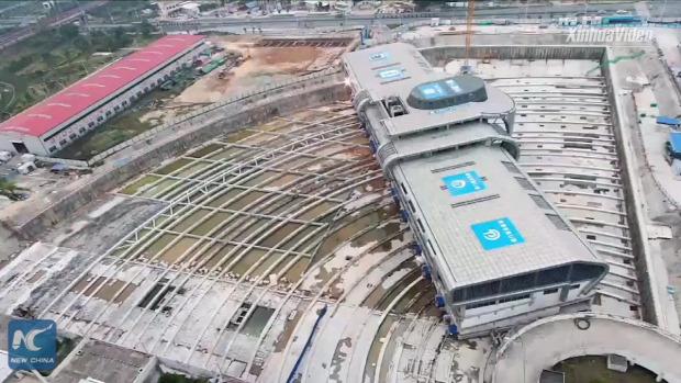 épület pályaudvar mozgatás forgatás