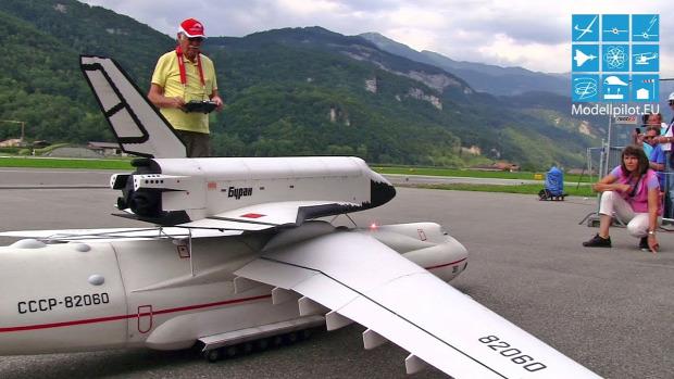 modell sugárhajtású repülő AN-225 Burán