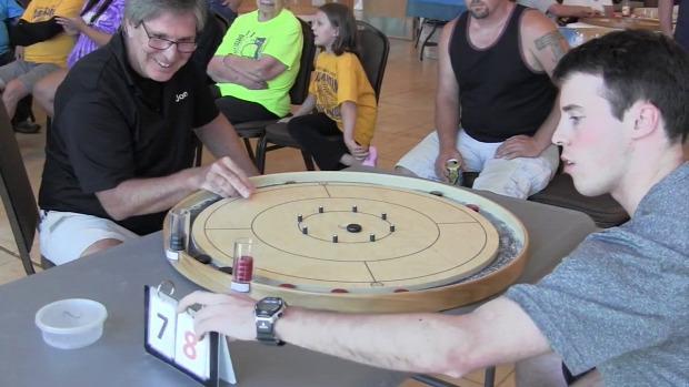 sport asztal curling crokinole