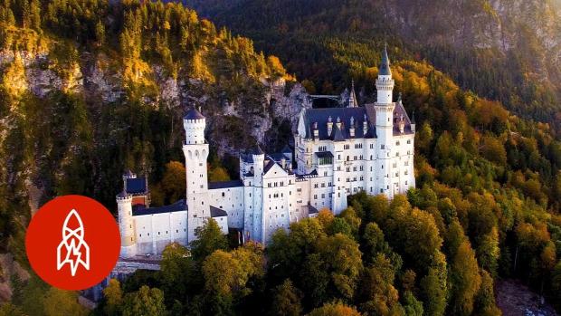 Neuschwanstein kastély drón videó