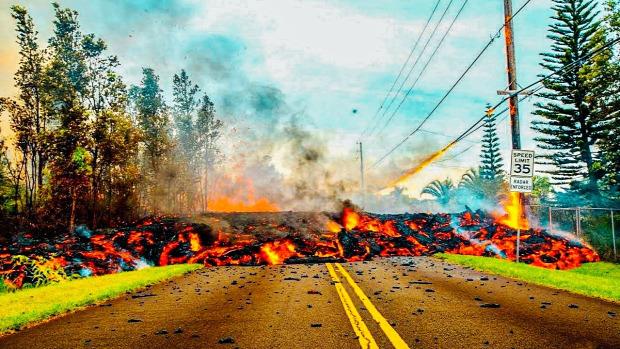 Kieuea vulkán kitörés Hawaii