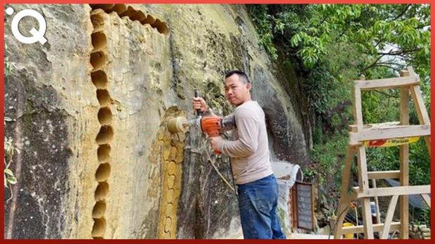 barlang lakás fúrás építés vésés