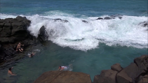 Hawaii öböl hullám óriás