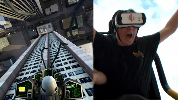 hullámvasút VR virtuális valóság