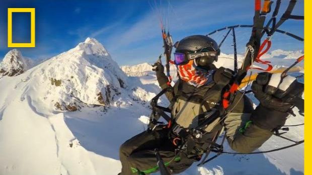 motoros siklóernyő gleccser Alaszka