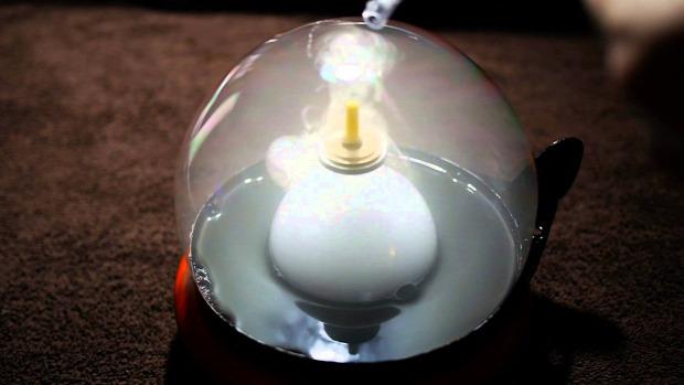 buborék levitáció pörgettyű e-cigi füst