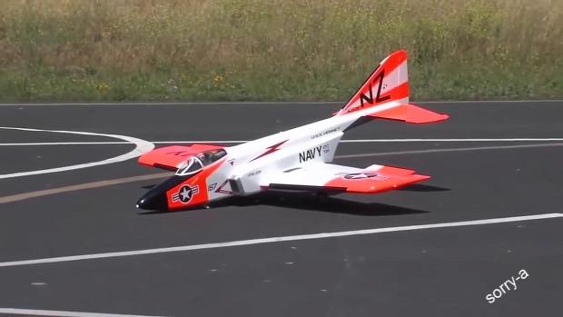RC távirányítós modell repülő baleset