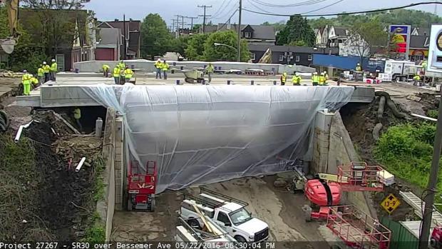 híd építés csere timelapse gyors