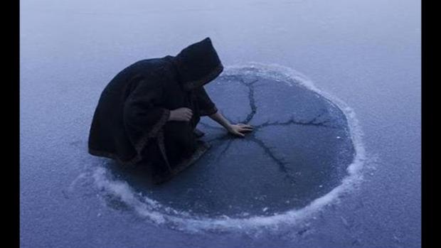 jég baleset elsüllyed csúszik