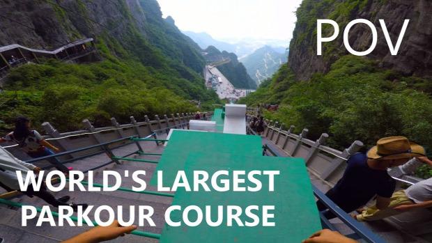 parkour Tianman hegy Kína
