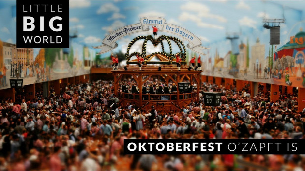 time lapse tilt shift oktoberfest