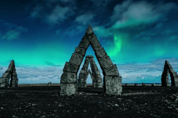Izland drón éjszaka