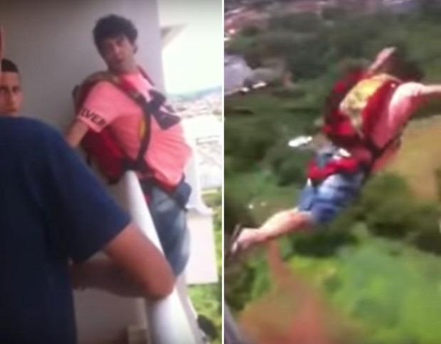 ejtőernyő próba ablak erkély