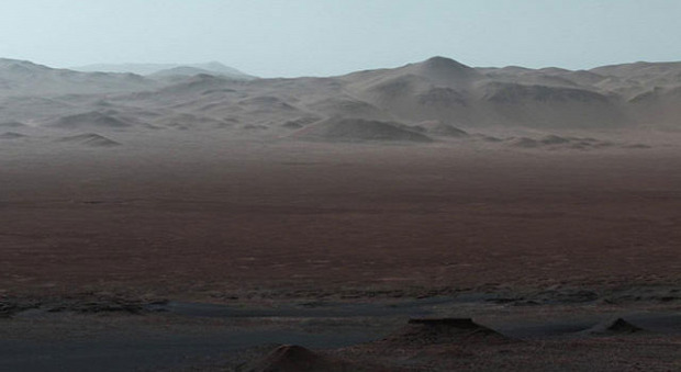 Mars  panoráma Curiosity