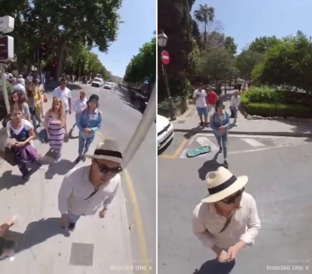 turista kamera szelfi zsebtolvaj rendőr