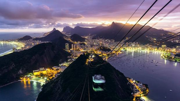 Rio de Janeiro time lapse gyorsított videó felvétel