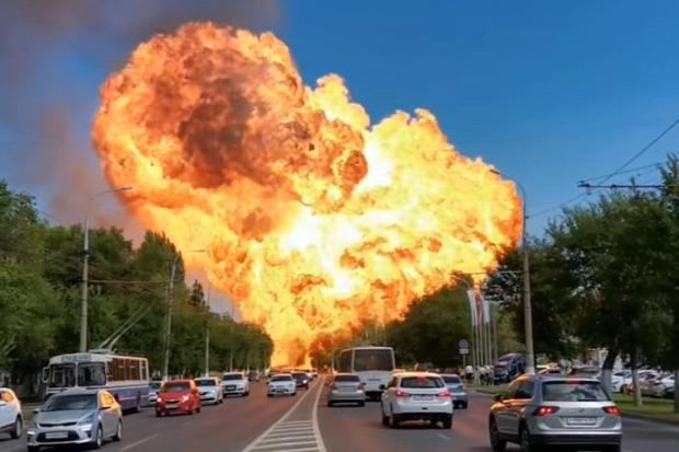 benzinkút robbanás Volvográd