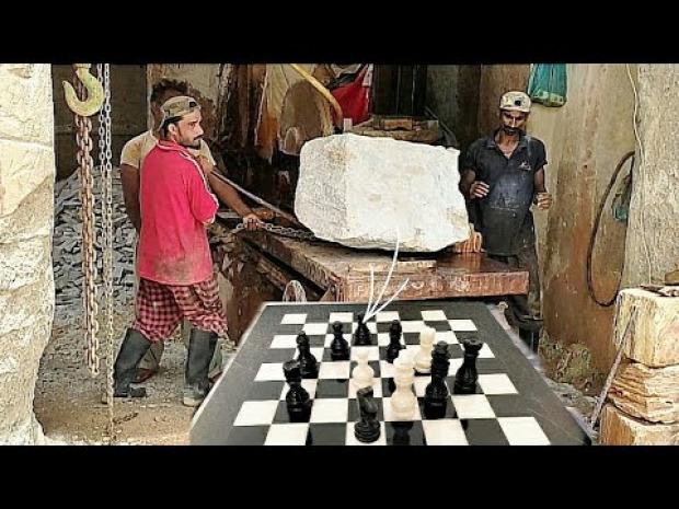 márvány sakk készlet gyártás készítés