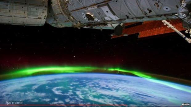 NASA Nemzetközi űrállomás északi fény