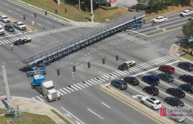 közút szállítás híd óriás