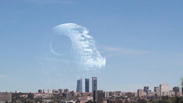 Sci-fi űrhajó csillaghajó ég  Madrid