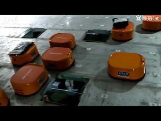 csomagszállító raktár robot
