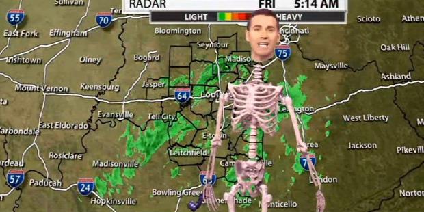 Halloween tv híradó meteorológus