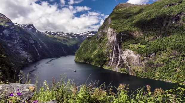 Norvégia fjord time-lapse
