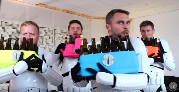 SW Star Wars rohamosztagos birodalmi induló sörös üveg