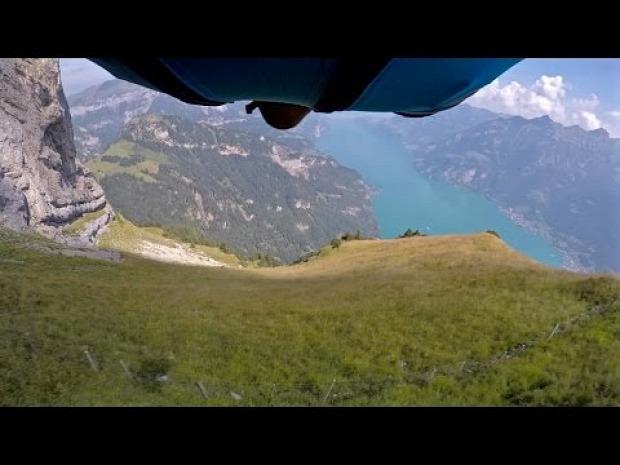 Svájc szárnyasruha ugrás Gitschen-hegy Isenthal