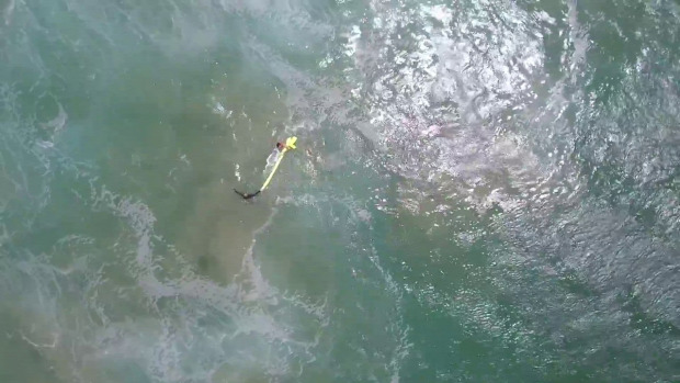 drón tengerpart életmentő